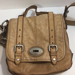 [Fossil] messenger crossbody bag purse leather